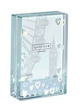 Spaceform Glass Lots Of White Hearts Dinky Picture Photo Frame Present Gift 1257