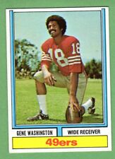 1974 Topps Parker Brothers FB #44 Gene Washington a 49ers 1972 Stats EX+