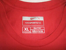 "NWOT NIKE SPORTS TEE~Girls S/SL~ T-shirt-Red- Size XL-""Fit Dry"""