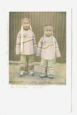 Chinese Girls, Traditional Ethinic Dress,1903 UDB, San Francisco California