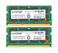 Crucial 16GB 2X 8GB 2Rx8 PC3L-12800 DDR3L 1600Mhz SODIMM RAM Laptop Memory Intel