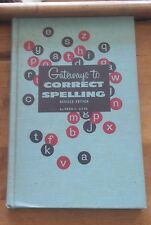 Gateways to Correct Spelling Fred C Ayer 1960 Hardback Text Book Vintage