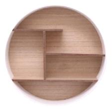 Circular Wall Mounted Storage Display Shelf Wooden Cabinet Rack Unit