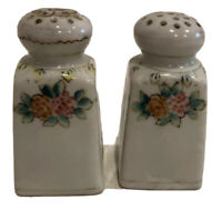 Vintage Nippon Hand Painted Flowers Salt & Pepper Shakers NO Stoppers