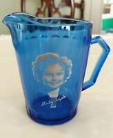 "REDUCED Vintage 1930's Hazel Atlas ""SHIRLEY TEMPLE RITZ COBALT BLUE PITCHER"""