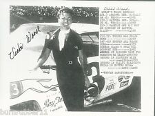 "SIGNED VICKI WOOD ""RAY FOX & ASSOC RECORDS"" #3 NASCAR FEMALE LEGEND POSTCARD"