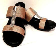 sz 11/42 TS TAKING SHAPE Addison Slides Embellished  Shoes Rose Gold NIB