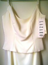 Lazaro Gown - NEW with Tags - Ivory Two Piece Size 10 - Georgette, Short Train