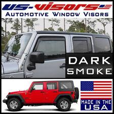 US-Visors Window Vent Visors In-Channel fit 2007-2018 Jeep Wrangler JK 4-Door