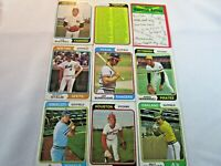 1974 TOPPS BASEBALL LOT OF 9 CARDS, 1973 WORLD SERIES, REDS & CARDS TEAM  G2848