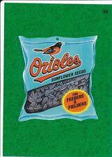 2016 TOPPS WACKY PACKAGES MLB - BALTIMORE ORIOLES SUNFLOWER SEEDS - GREEN GRASS