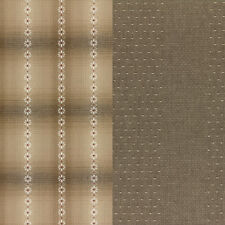 Akemi Shibata Yarn Dye Fat Quarter LECIEN Japanese Quilt Homespun Taupe Fabric