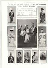 1906 Veteran King Of Denmark Dies Four Generations Direct Succession
