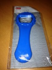 Blue Beer Bottle Cap Opener Attaches to keychain NEW