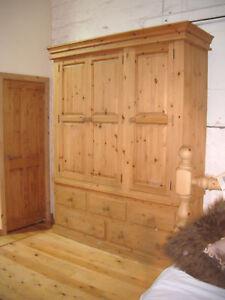 hand made solid pine 3 door wardrobe. hand waxed.TRIPLE