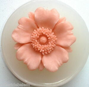 FLOWER SILICONE MOULD CUPCAKE PLASTER RESIN FIMO POLYMER CLAY WAX MOLD