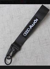 AUDI BLACK Keychain Wrist Lanyard with Metal Keyring - FREE SHIPPING