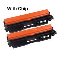 2 Pack Toner WITH CHIP for HP 17A CF217A M102a M102w M130a M130fn M130fw M130nw
