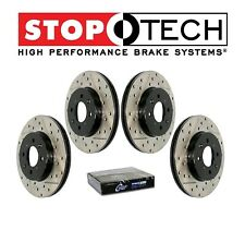 For Chevrolet Camaro SS Front&Rear StopTech Drilled&Slotted Brake Rotors Set Kit