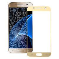 Samsung Galaxy S7 / G930F Ersatz Frontglas Gold Touch Schutzglas Scheibe