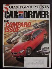 Car & Driver Magazine May 2012 Comparo BMW 3 Series Infiniti Plug In Supercar YY