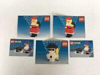 Vintage Lego Holiday Snowman Santa Instruction Manuals Only #1627 #1625 #1549