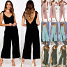Women Strappy Sleeveless Wide Leg Jumpsuits Casual Loose Sexy Romper Pants