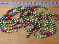 "2 Vintage Mercury Glass Bead Christmas Tree Garland 96 and 60"""