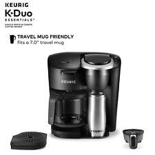 Keurig K-Duo Essentials Coffee Maker, 12 Cup Carafe Brewer, Black