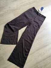 """Ralph Lauren """"Adrienne"""" Satin Trousers, New With Tags BNWT Size US4 (UK8) Brown"""
