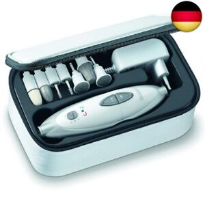 Sanitas SMA 35 Electric Manicure Pedicure Set with 7 Nail Care Tips White/Silver
