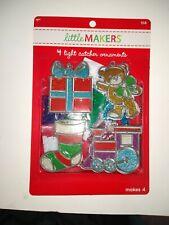 Makit & Bakit Xmas 4 Pc Ornament Kit Suncatcher Stained Glass Christmas Teddy
