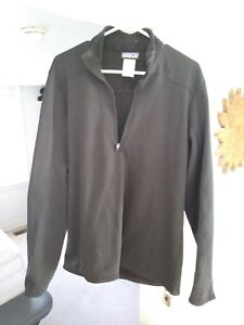 Patagonia Men's Capilene 4 Thermal Weight 1/2 Zip Base Layer Large Black