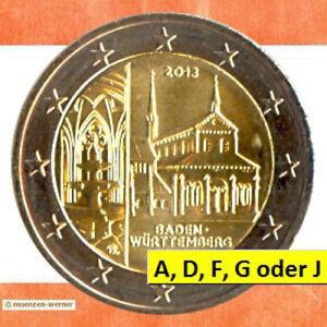 Sondermünzen BRD: 2 Euro Münze 2013 Kloster Maulbronn BW Sondermünze Gedenkmünze
