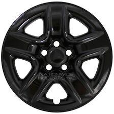"""4 Black 2006-2012 Toyota RAV4 17"""" Wheel Skins Hub Caps Full Rim Skin Covers New"""