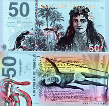 TOROGUAY 50 Lixo Fun-Fantasy Note 2018 Issue Banknote Bill Bird; Snake, Native