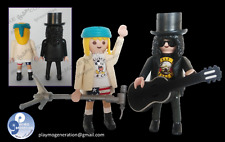 Playmobil custom GUNS & ROSES  AXL SLASH western, medieval...