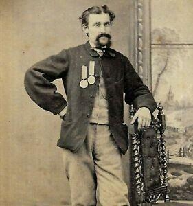 Victorian CDV Photo Veteran Military Soldier Medal J. Stuart Keith Scotland