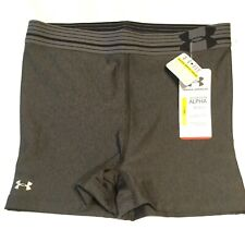 NEW WOMEN'S UNDER ARMOUR COMPRESSION SHORTS | Grey ~ Yoga ~ Running ~ Size Small