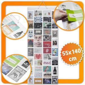 Fotovorhang XXL Bildervorhang Fotogalerie Bilderrahmen mit 40 Taschen für Fotos