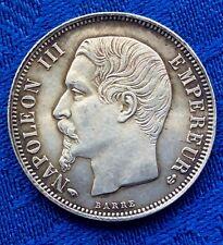 RARE MONNAIE DE 1F NAPOLEON III TETE NUE  EN ARGENT 1859 A   EN SUP