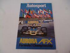 AUTOSPORT SUPPLEMENT AURORA AFX FORMULA 1 1979 RUPERT KEEGAN TATTY/SCRUFFY *LOOK