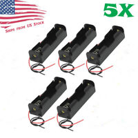 "5Pcs Battery Holder Case Box with 6"" Wire Leads for 1S 18650 Li-Ion Batteries"
