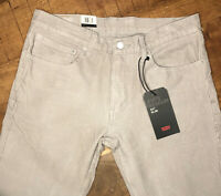 Levi's 511 Corduroy Pants Slim Fit Stretch Opal Gray 045114001 Size 34x34