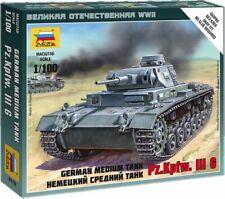 6119 Zvezda model kit german medium tank Pz.Kpfw.III G scale 1/100