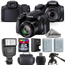Canon PowerShot SX60 HS Digital Camera 16.1MP NFC / WiFi. 65x Optical - 32GB Kit