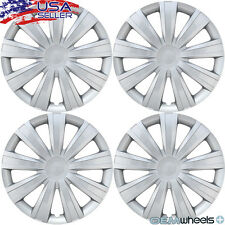 "SET OF 4 NEW SILVER 15"" HUB CAPS FITS DODGE SUV CAR TRUCK CENTER WHEEL COVERS"