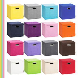 Storanda | Aufbewahrungsbox LEA mit Deckel | Faltbox | 33x33x33 cm | Neuware
