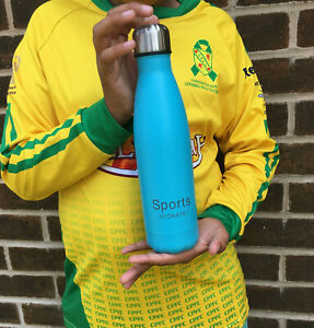 Sports water bottle stainless steel Blue - 500ml ( Say no to plastic bottle )