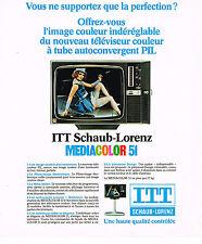 PUBLICITE ADVERTISING 084  1976  ITT SCHAUB-LORENZ   téléviseur  MEDIALOR 51